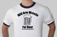 Arm-wrestling t-shirt