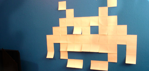 Spaceinvaders post-its