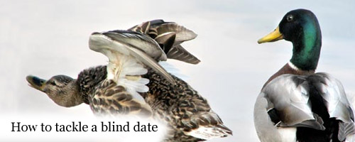 """How do I tackle a blind date?"""
